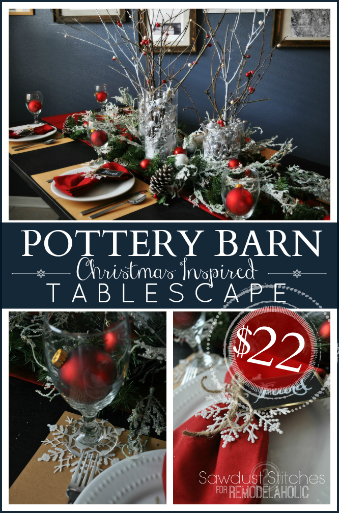 Remodelaholic Pottery Barn Holiday Tablescape For Dollar
