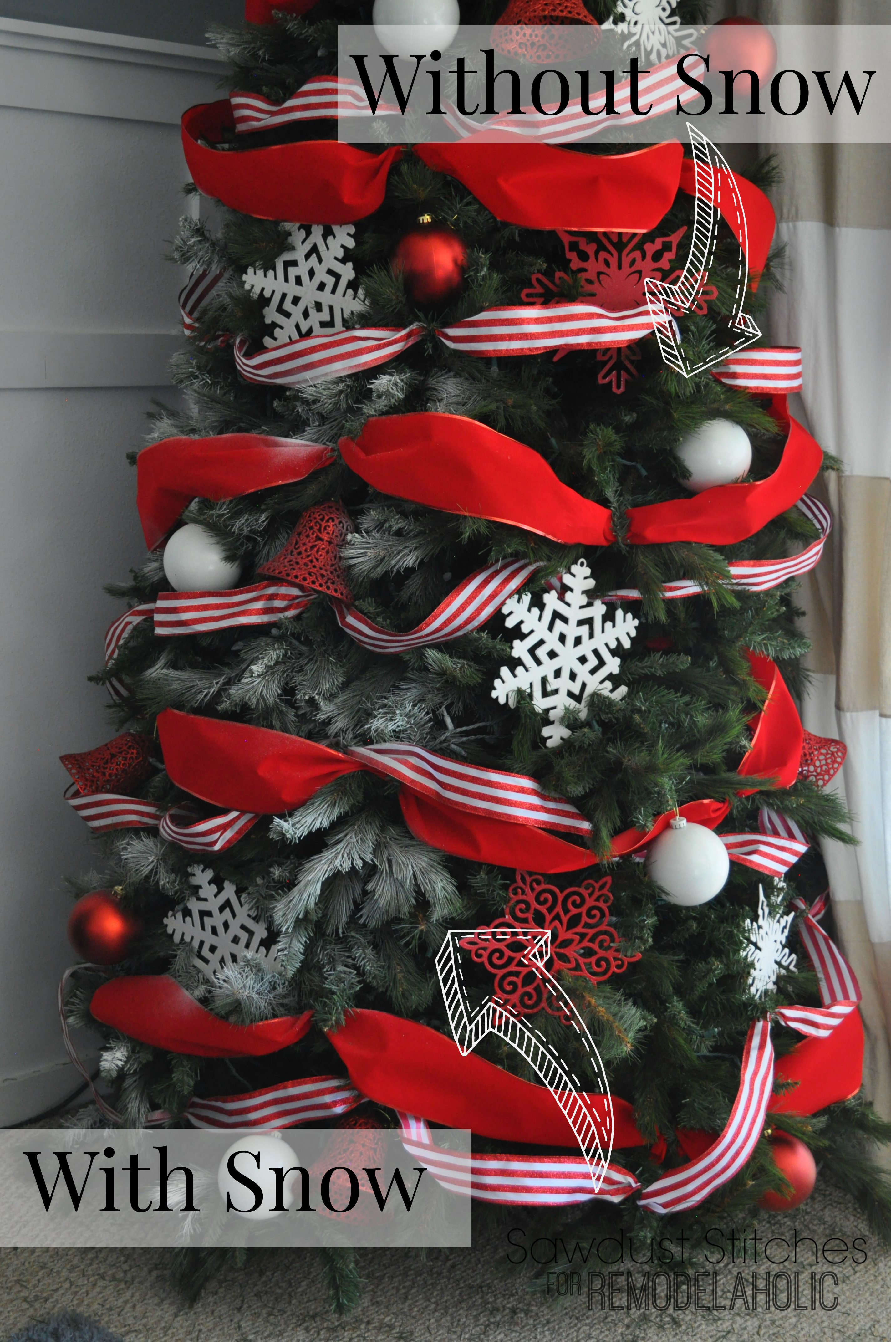 Remodelaholic How To Decorate A Christmas Tree A Designer Look  - Christmas Decorating Ideas Without A Tree