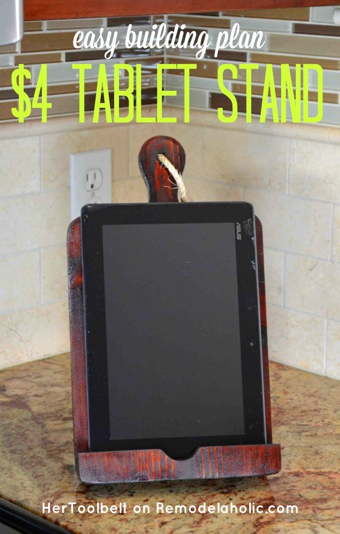 Remodelaholic How To Make A Tablet Holder