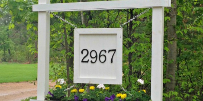 Build a House Number Sign and Planter Box