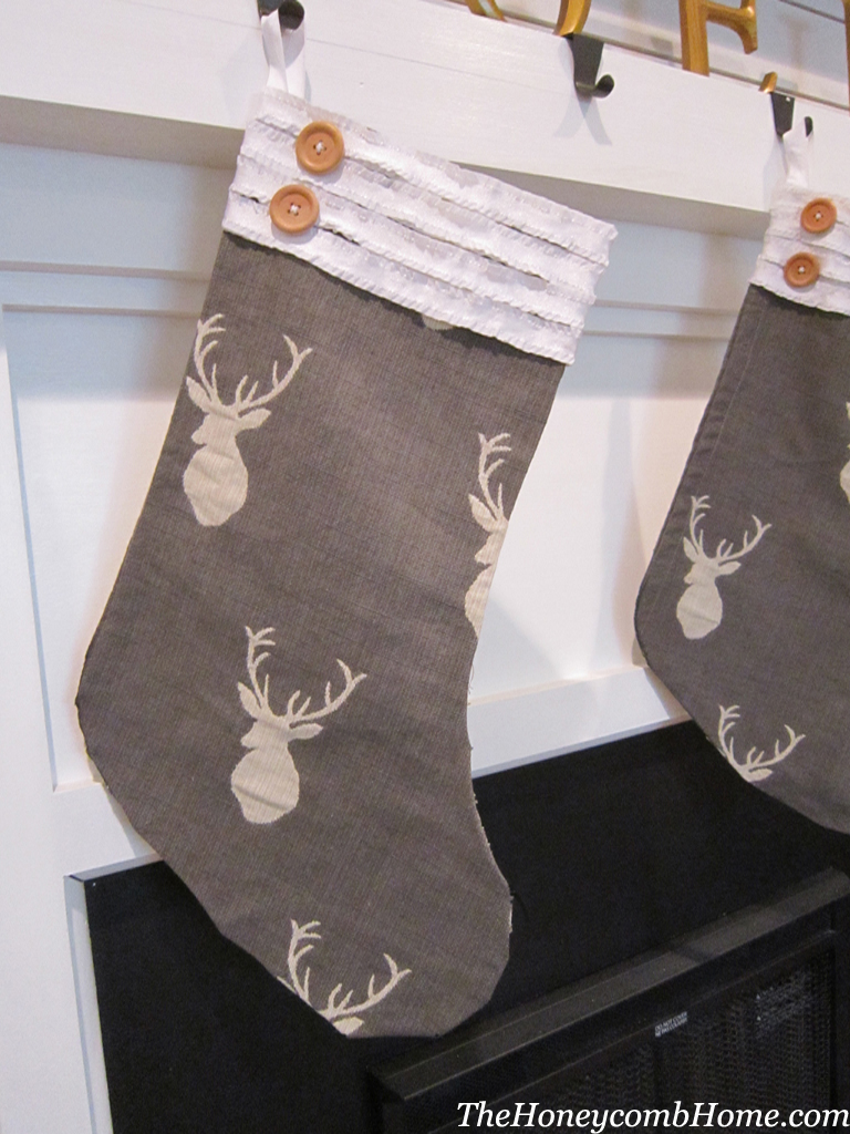 Remodelaholic No Sew Stocking Tutorial
