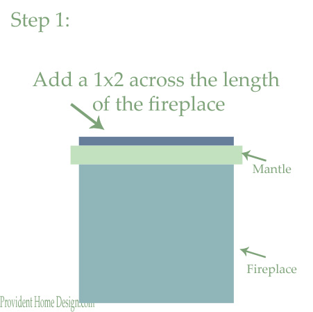 Remodelaholic How To Add Woodwork Trim Above The Fireplace Mantel