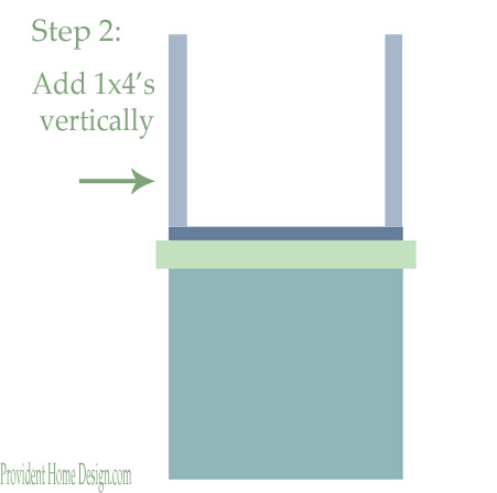 DIY woodwork trim above the fireplace mantel - tutorial step 2 - Provident Home Design featured on @Remodelaholic