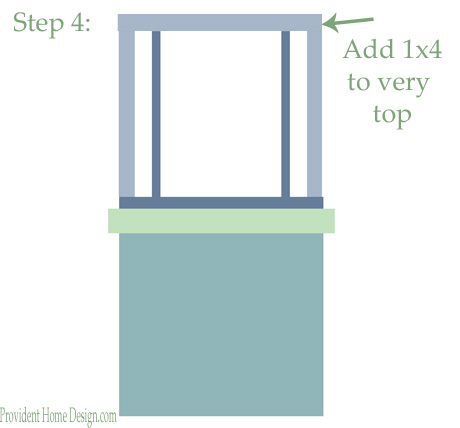 DIY woodwork trim above the fireplace mantel - tutorial step 4 - Provident Home Design featured on @Remodelaholic