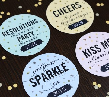 Free Printable New Year's Eve Party Coasters