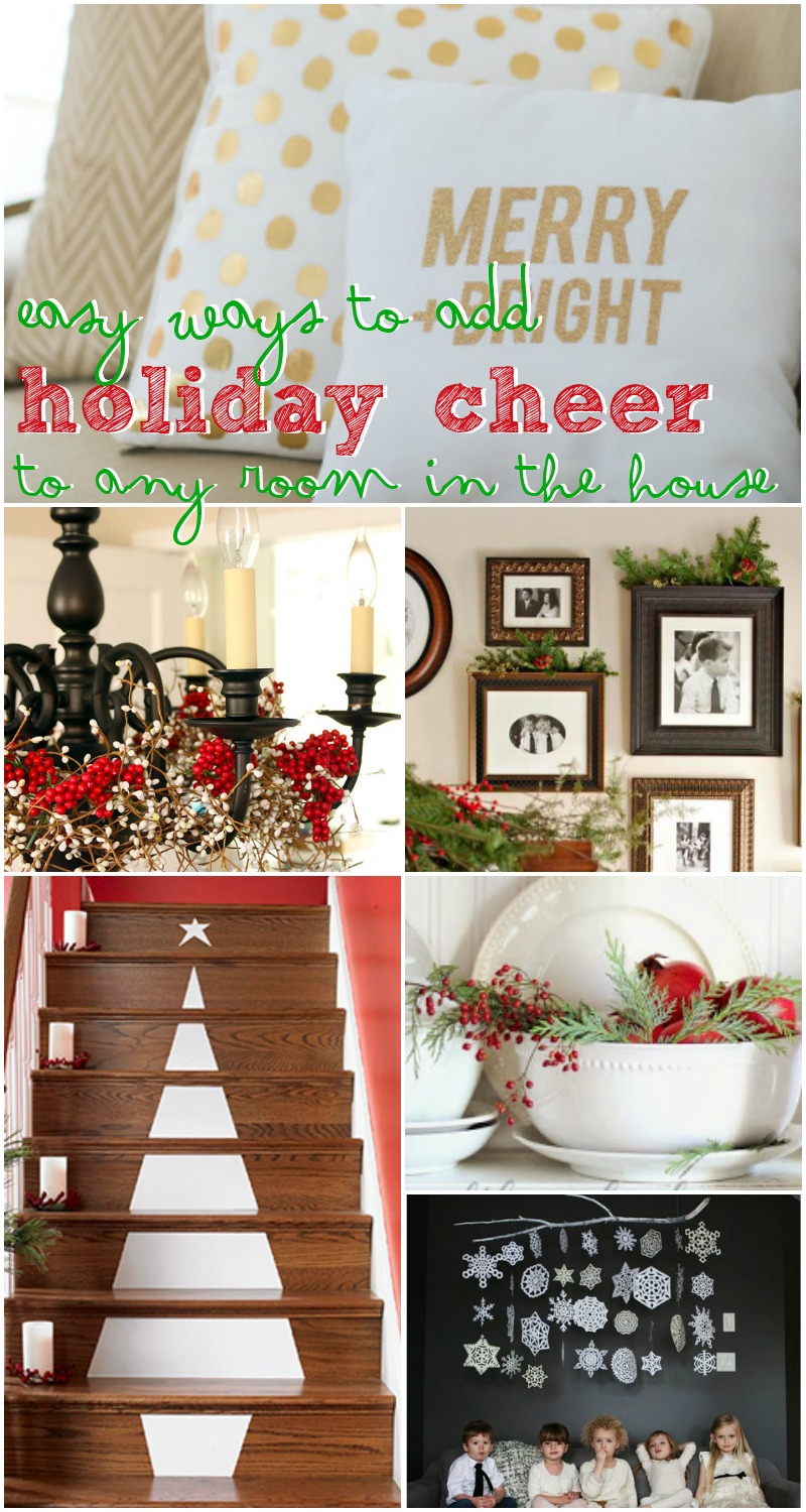 holiday decorating ideas for every room in your home remodelaholic - Decorating Your House For Christmas
