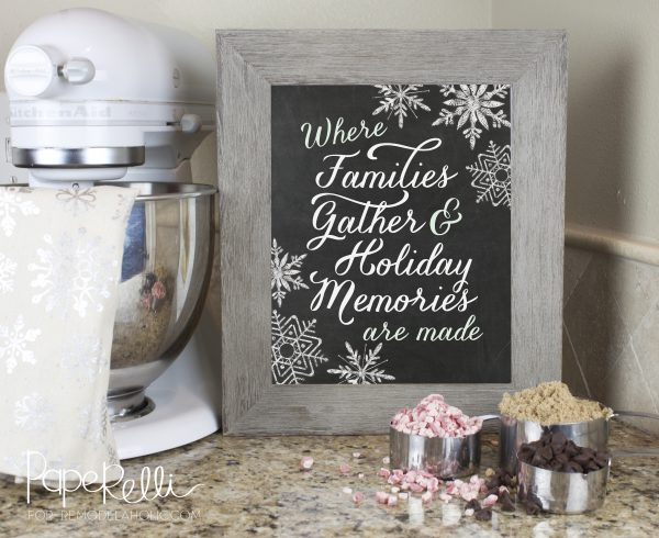 Holiday Kitchen Printable by Paperelli for @Remodelaholic