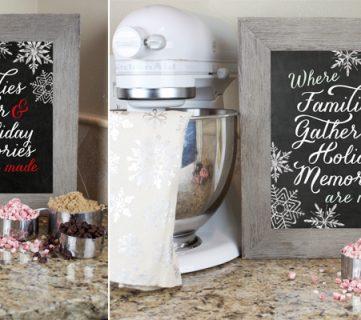 Holiday Memories Chalkboard Printable