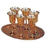 Hot Pink Christmas Brass Goblet