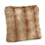 Hot Pink Christmas Faux Fur Pillow2