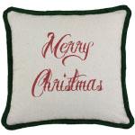Hot Pink Christmas Merry Christmas Pillow