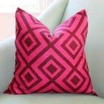 Hot Pink Christmas Pink Pillow
