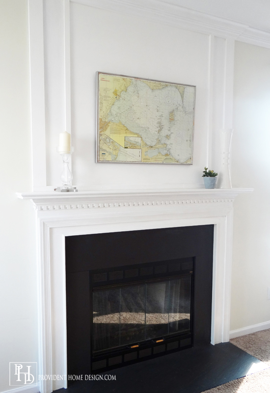 Remodelaholic | How To Add Woodwork Trim Above The Fireplace Mantel