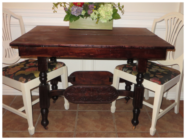 How To Refinish Carved Wooden Furniture, Before, By Beckwiths Treasures On Remodelaholic