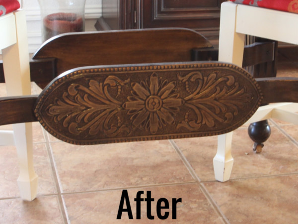 How To Refinish Wood Furniture, Base After, From Beckwiths Treasures On Remodelaholic
