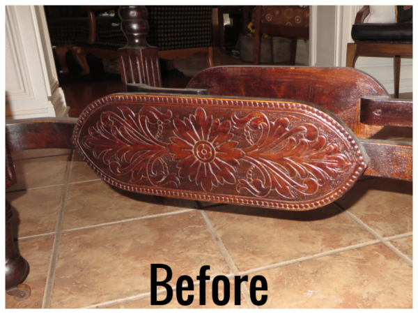 How To Refinish Wood Furniture, Base Before, From Beckwiths Treasures On Remodelaholic
