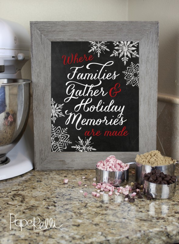 Kitchen Holiday Printable by Paperelli for @Remodelaholic