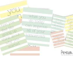 Motivational Printables - Set of 4 @Remodelaholic