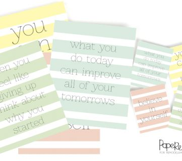 Motivational Printables - Set of 4 @Remodelaholic