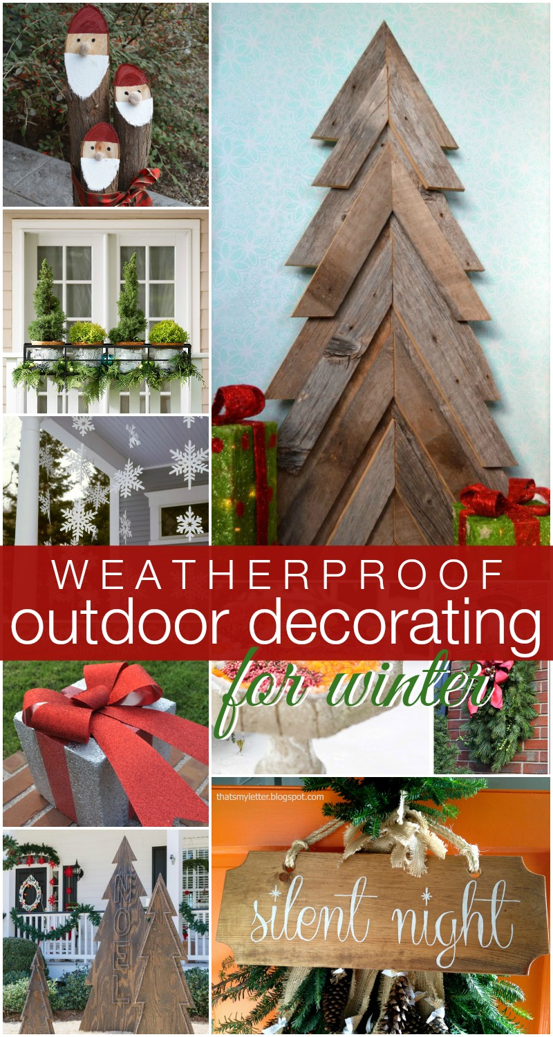 Homemade christmas yard decorations - Outdoor Decorating For Winter Remodelaholic
