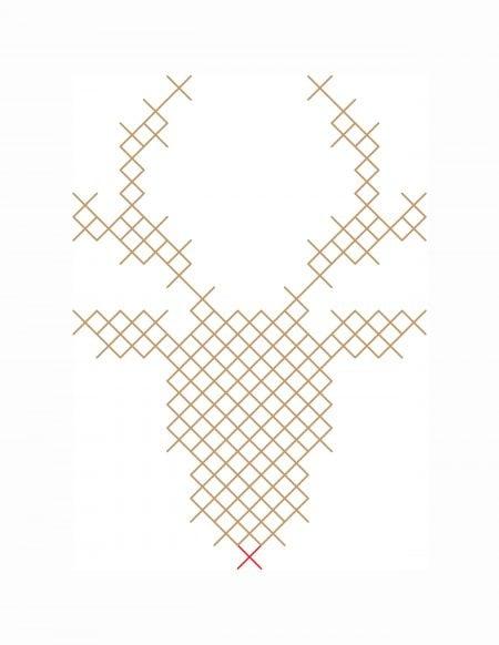Reindeer pattern printable