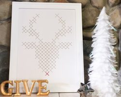 Rudolph Faux Embroidery Art Tutorial by @Remodelaholic-2573-2
