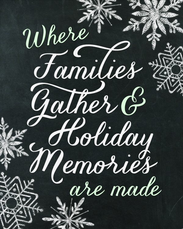 Christmas Decor Printable by Paperelli for @Remodelaholic