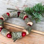 Wooden bead Christmas wreath