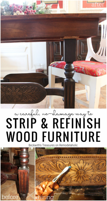 A Careful, No Damage Way To Strip And Restore Wooden Furniture On Remodelaholic