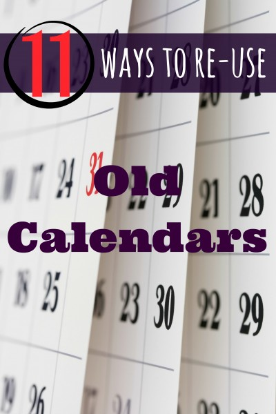 Don't just toss all those old calendars. Here are 11 Ways to Reuse Old Calendars ~ Tipsaholic.com #calendar #recycle #upcycle