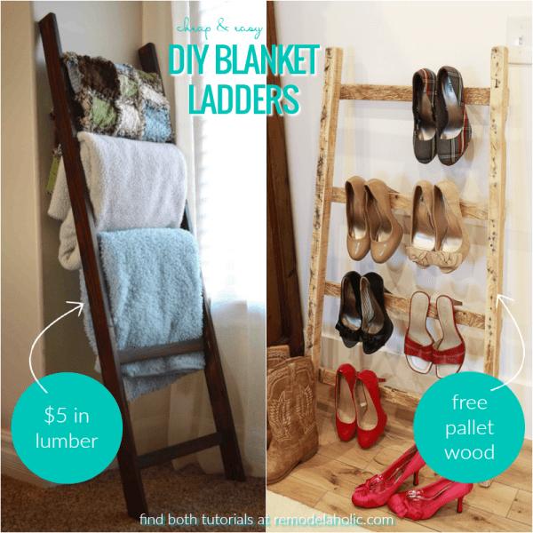 Diy Blanket Ladders @Remodelaholic