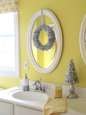 Remodelaholic holiday decorating ideas for every room in - How to decorate your bathroom ...