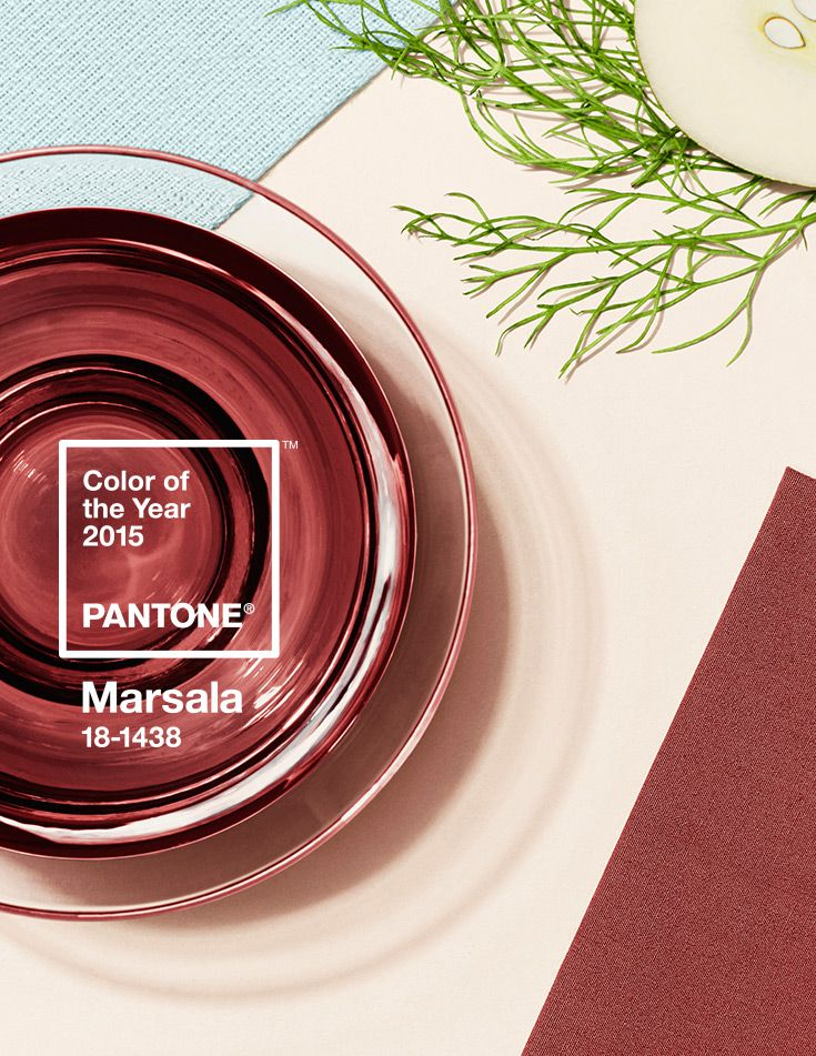 Pantones color of the year Marsala on Remodelaholic.com