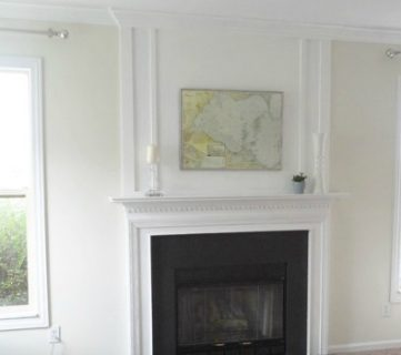 How to Add Woodwork Trim Above The Fireplace Mantel