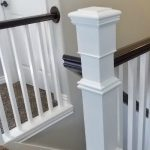 feature stair banister renovation build around existing newel post and handrail - TDA Decorating and Design featured on @Remodelaholic