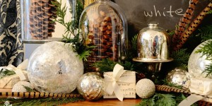 feature tuck sprigs of evergreen into mantel decorations - Miss Mustard Seed via @Remodelaholic