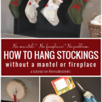Hanging Stockings Without A Fireplace Or Mantel, A Tutorial On Remodelaholic