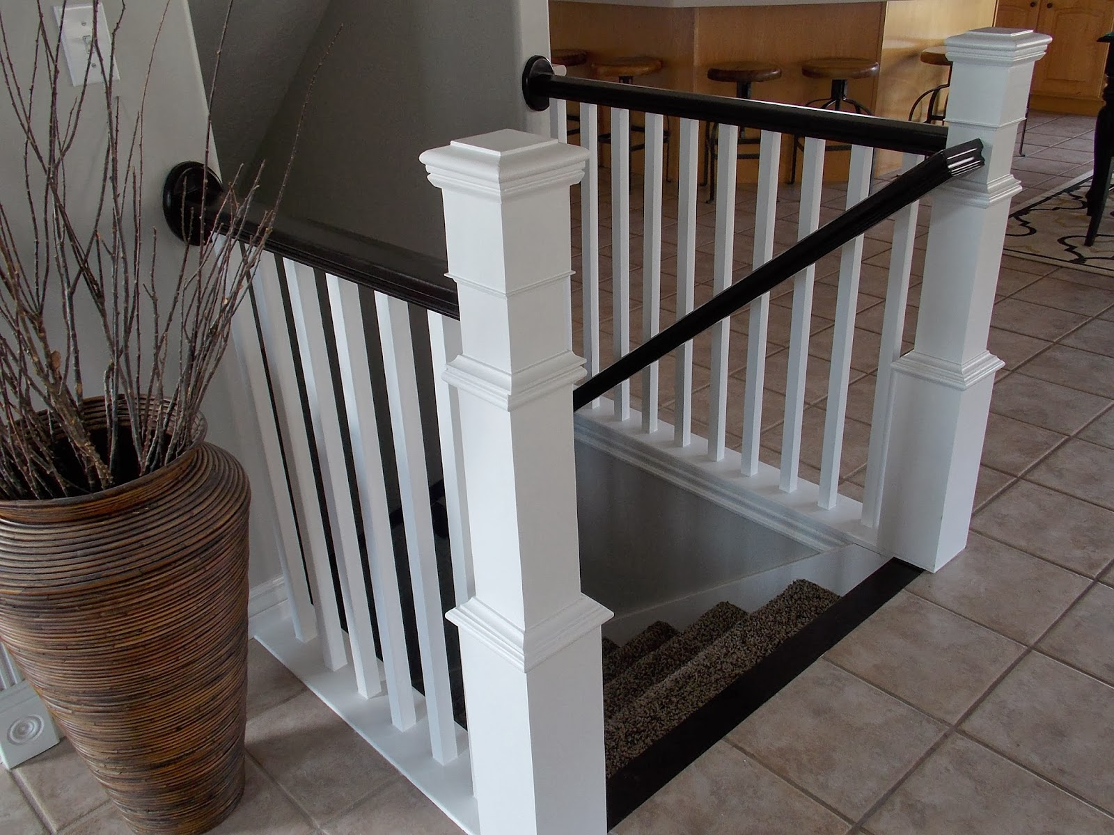 Remodelaholic stair banister renovation using existing for How to decorate a banister