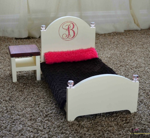 How To Make A DIY Doll Bed For 18 Dolls With Matching Nightstand, Baby Doll Bed Plans #remodelaholic