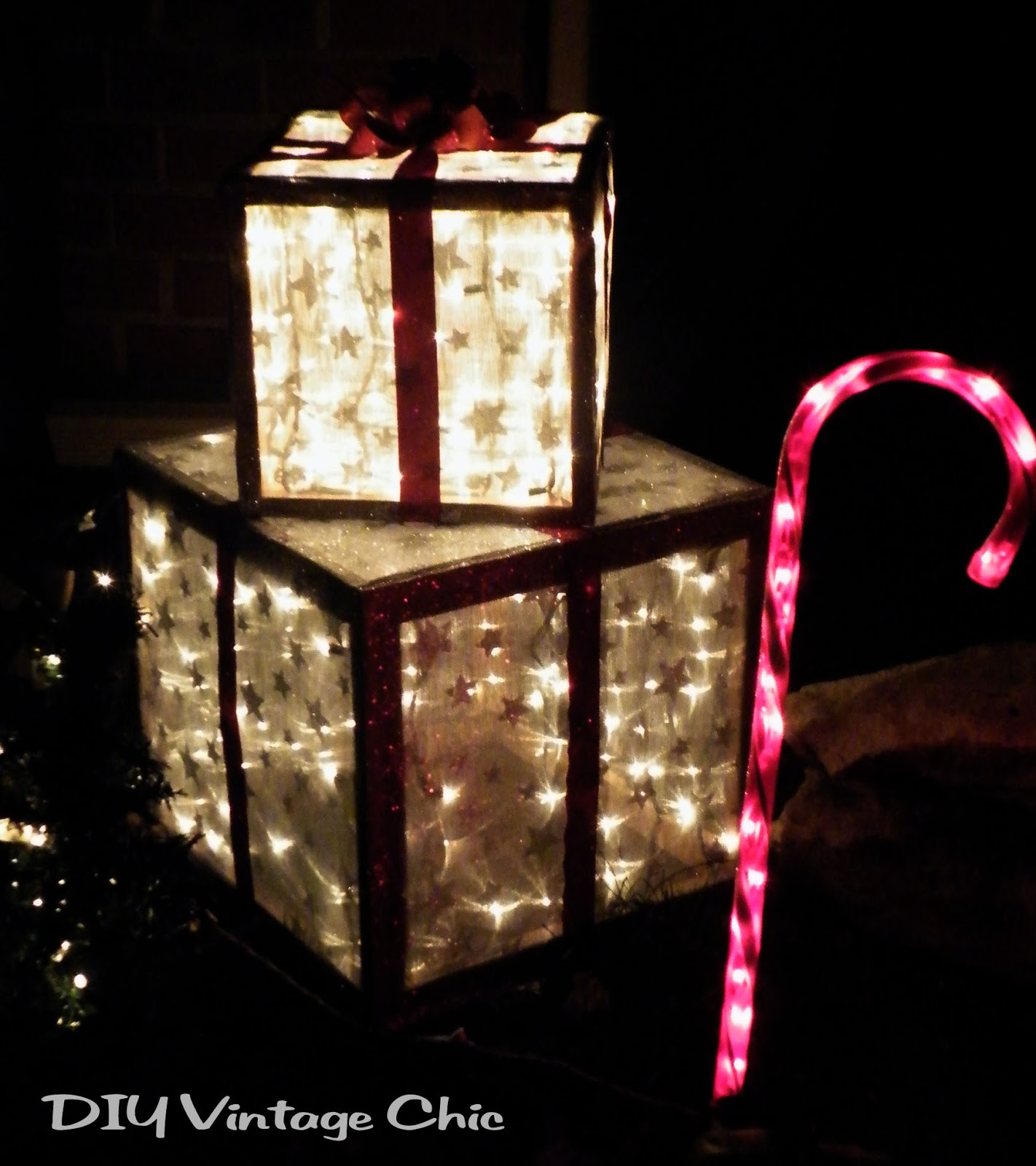 diy lighted lawn decorations remodelaholic diy outdoor decor for winter