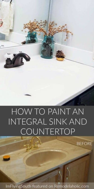 How To Paint An Integral Sink And Countertop