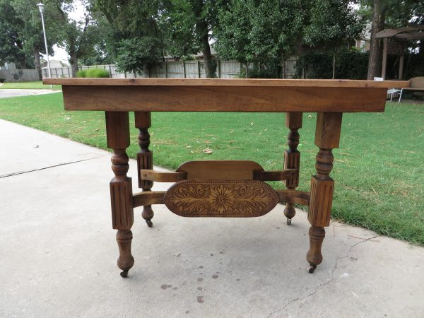 how to refinish carved wooden furniture - Beckwith's Treasures on @Remodelaholic - stripped 1