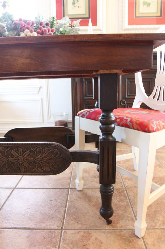 how to refinish carved wooden furniture - after1