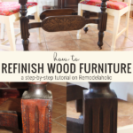 How To Refinish Wood Furniture By Beckwiths Treasures On Remodelaholic