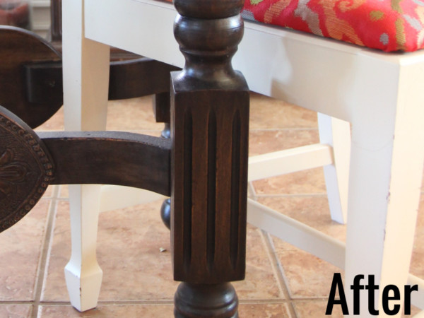 How To Refinish Wood Furniture, Leg After, By Beckwiths Treasures On Remodelaholic