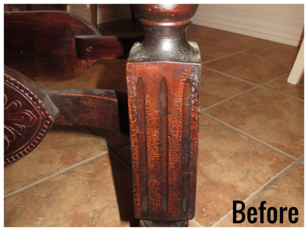 How To Refinish Wood Furniture, Leg Before, By Beckwiths Treasures On Remodelaholic