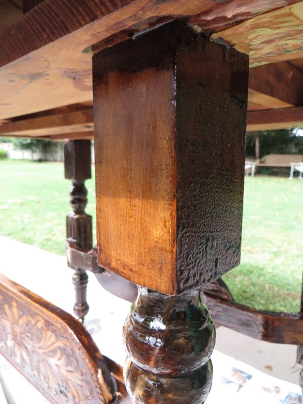 how to refinish wooden furniture - Beckwith's Treasures on @Remodelaholic