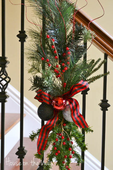 make a fresh pine christmas swag for the stairs house on the way via - Christmas Swag Decorations