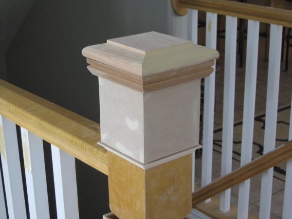newel post DIY  - TDA Decorating and Design featured on @Remodelaholic