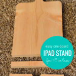 One Board IPad Stand Tablet Holder For $5 Or Less, HerToolbelt For Remodelaholic